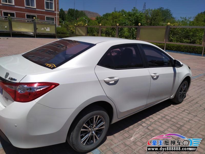 抵押车出售19年丰田雷凌紧凑型车