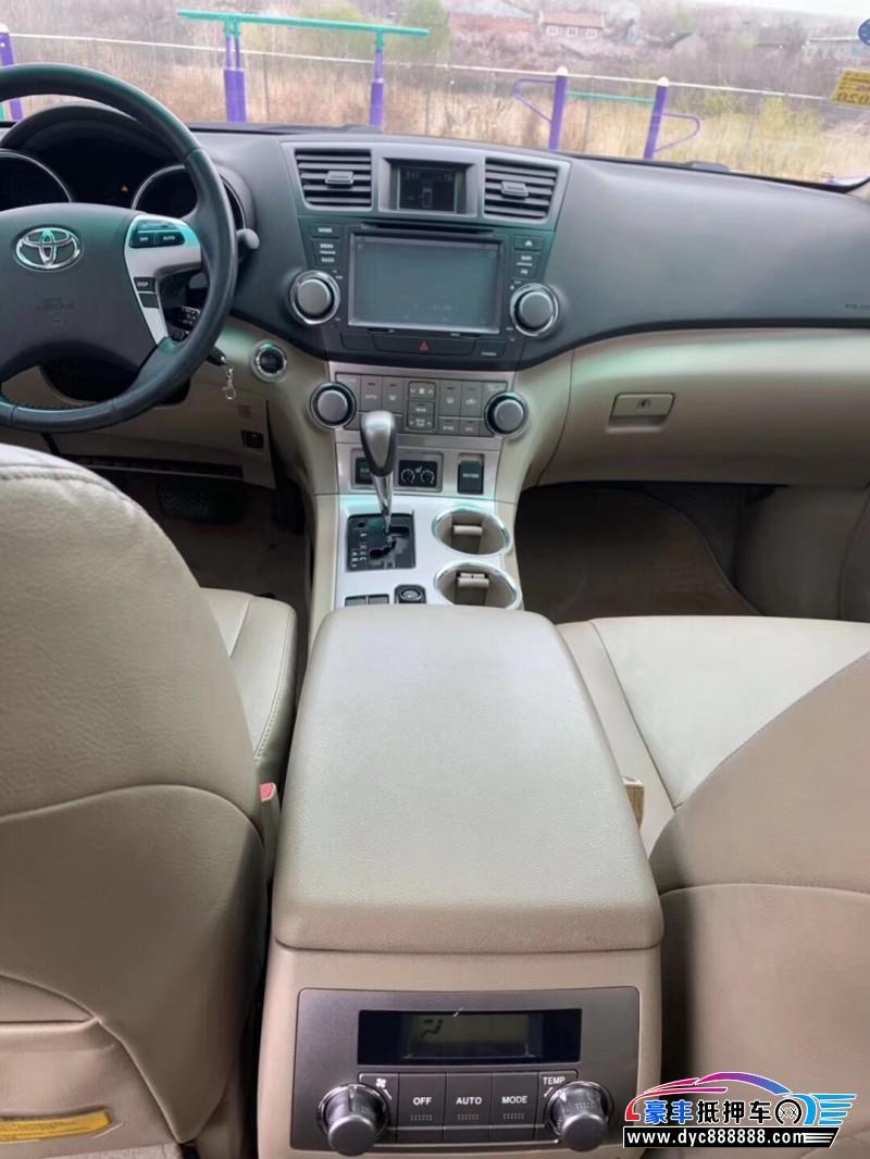 14年丰田汉兰达SUV抵押车出售
