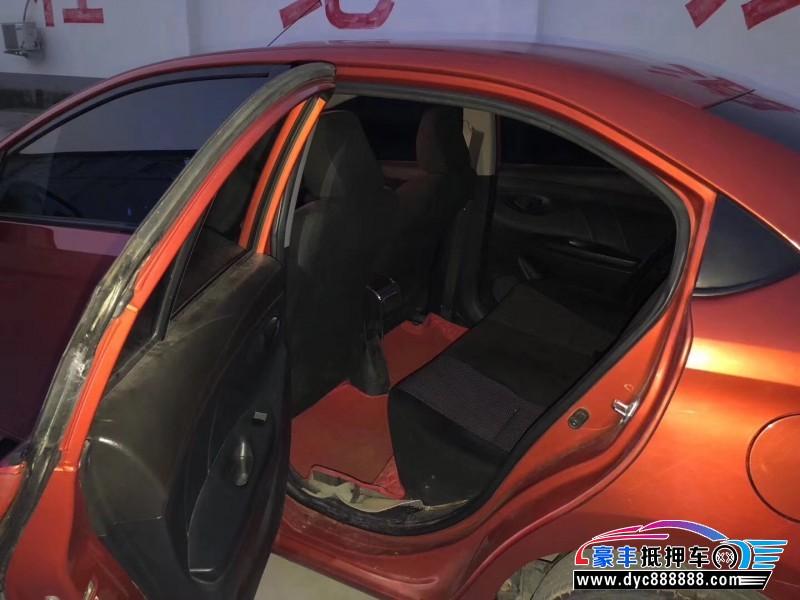 14年丰田威驰轿车抵押车出售