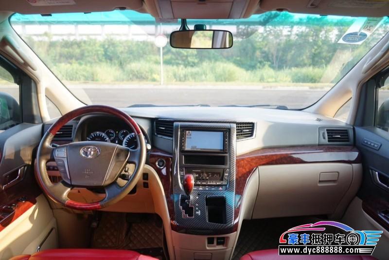 14年丰田埃尔法MPV抵押车出售