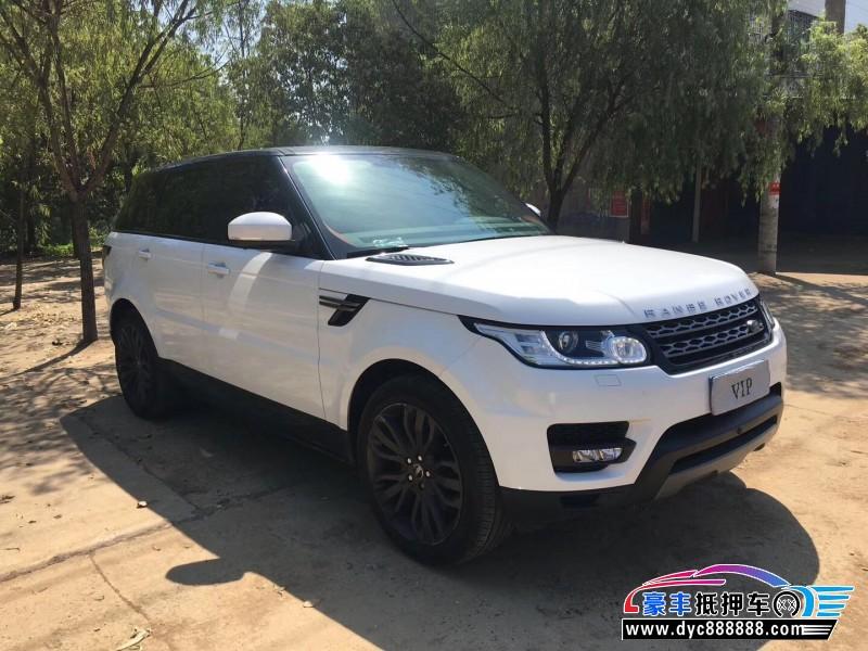 18年路虎揽胜运动版SUV抵押车出售