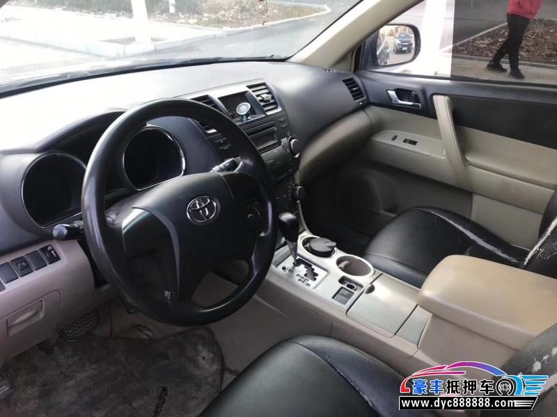 11年丰田汉兰达SUV抵押车出售