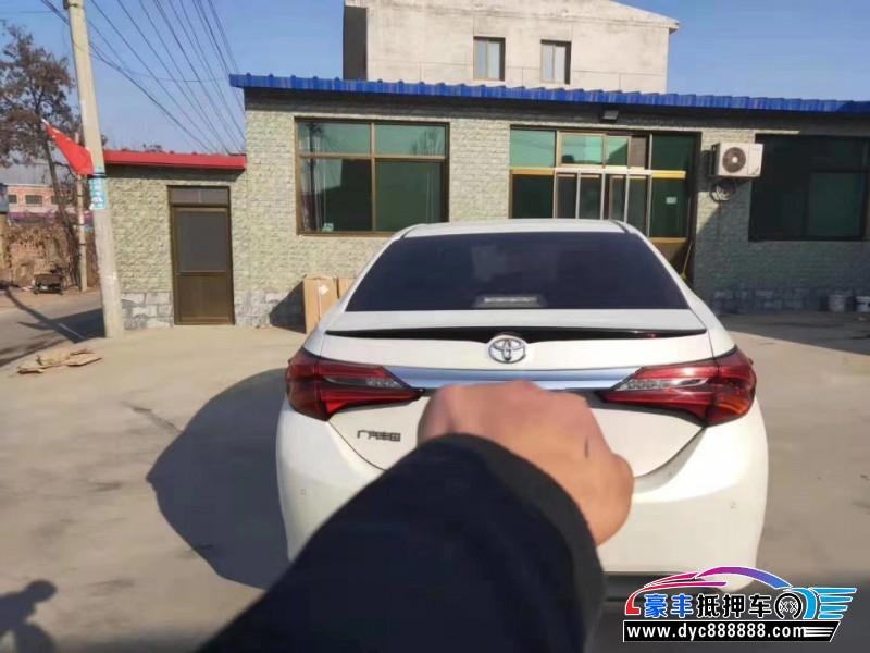 18年丰田雷凌轿车抵押车出售