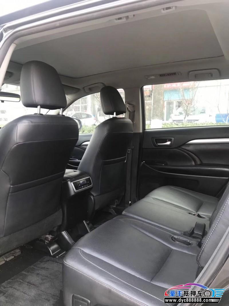 15年丰田汉兰达SUV抵押车出售