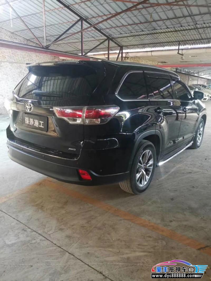 16年丰田汉兰达SUV抵押车出售