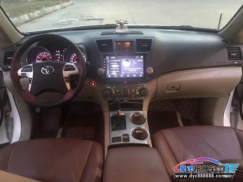 抵押车出售14年丰田汉兰达SUV