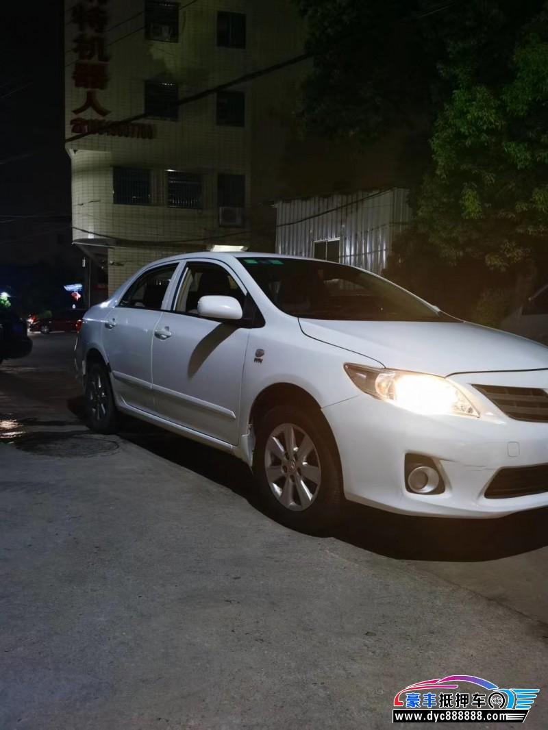 14年丰田卡罗拉轿车抵押车出售