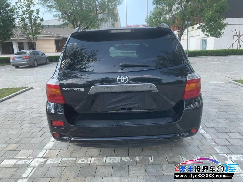 09年丰田汉兰达SUV抵押车出售
