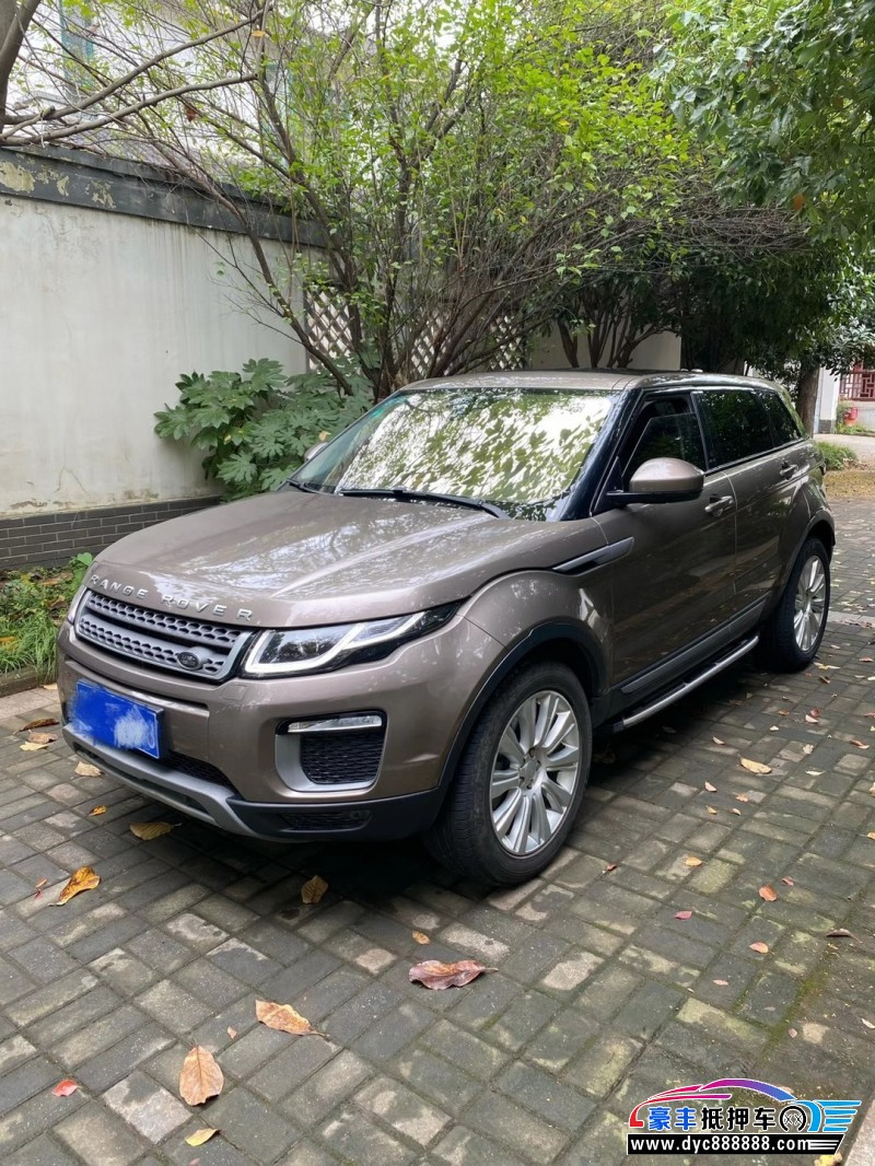 17年路虎揽胜极光SUV抵押车出售