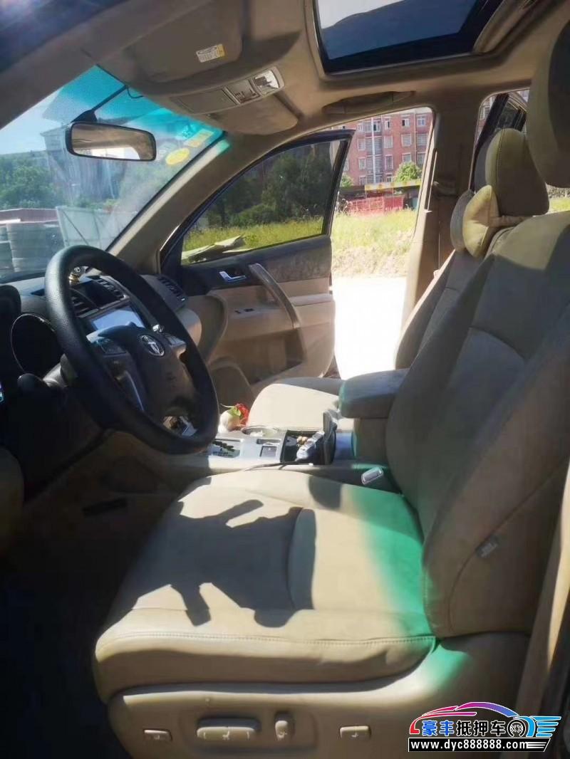 10年丰田汉兰达SUV抵押车出售