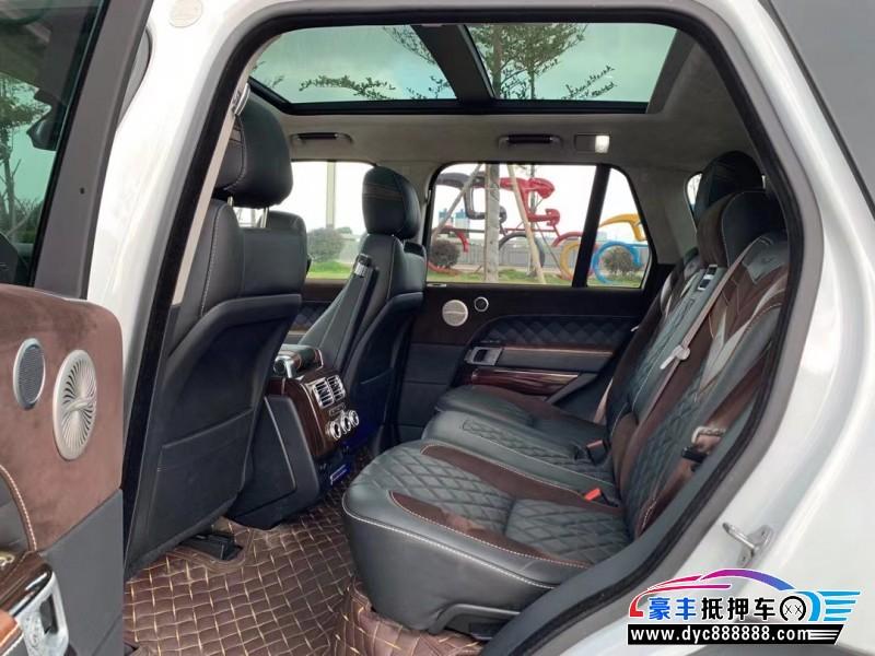 17年路虎揽胜行政SUV抵押车出售