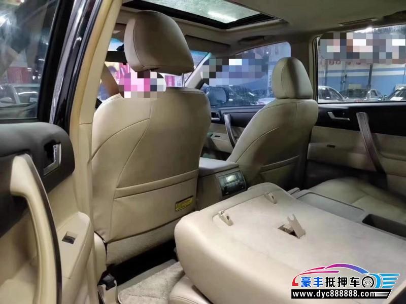 12年丰田汉兰达SUV抵押车出售