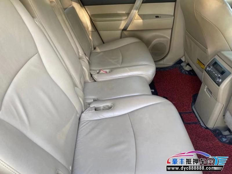 11年丰田汉兰达轿车抵押车出售
