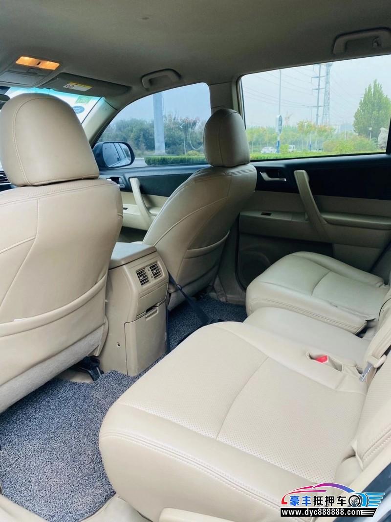 13年丰田汉兰达SUV抵押车出售