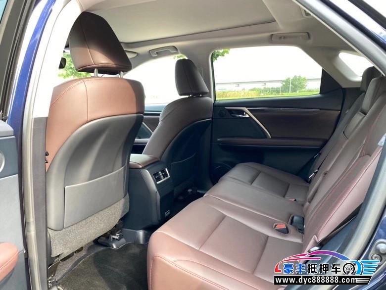 20年雷克萨斯RXSUV抵押车出售