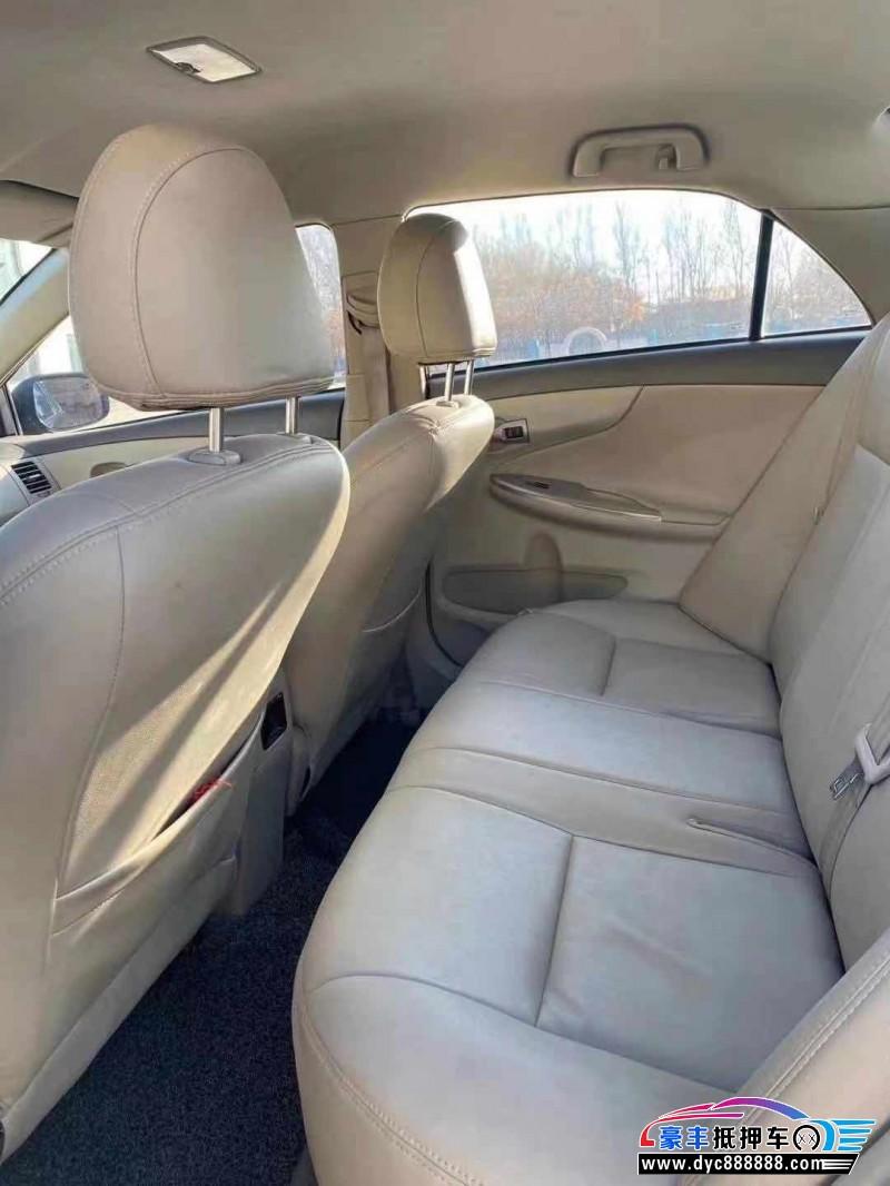 抵押车出售08年丰田卡罗拉轿车