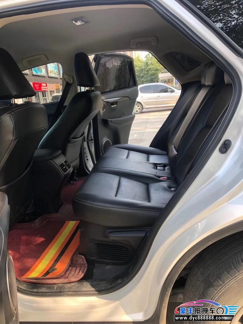 抵押车出售17年雷克萨斯NX轿车