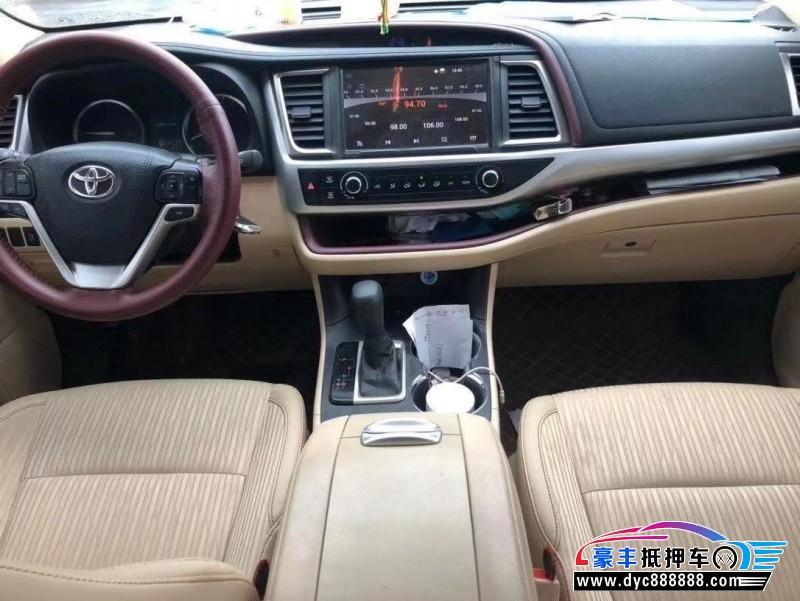 17年丰田汉兰达SUV抵押车出售