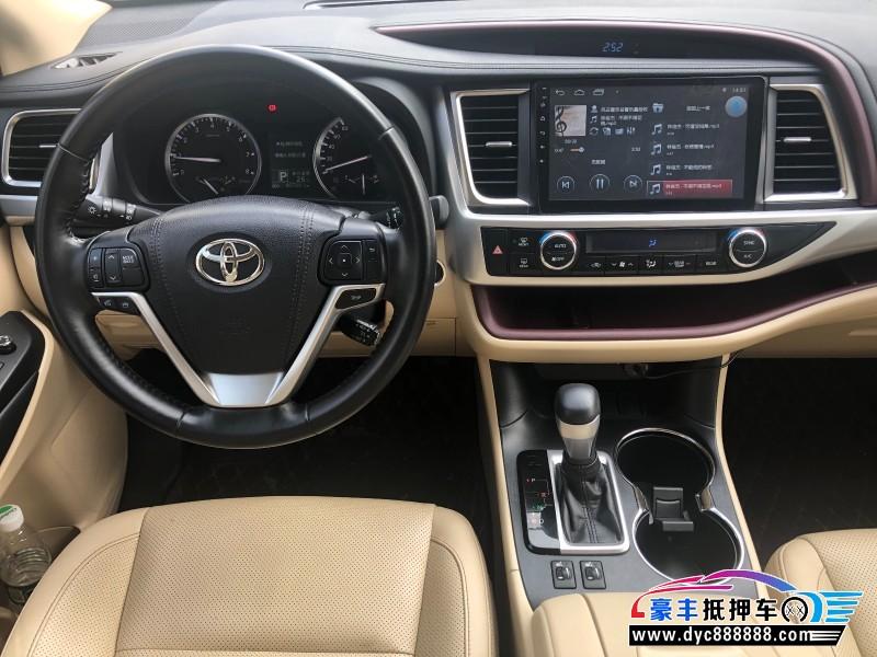 18年丰田汉兰达SUV抵押车出售
