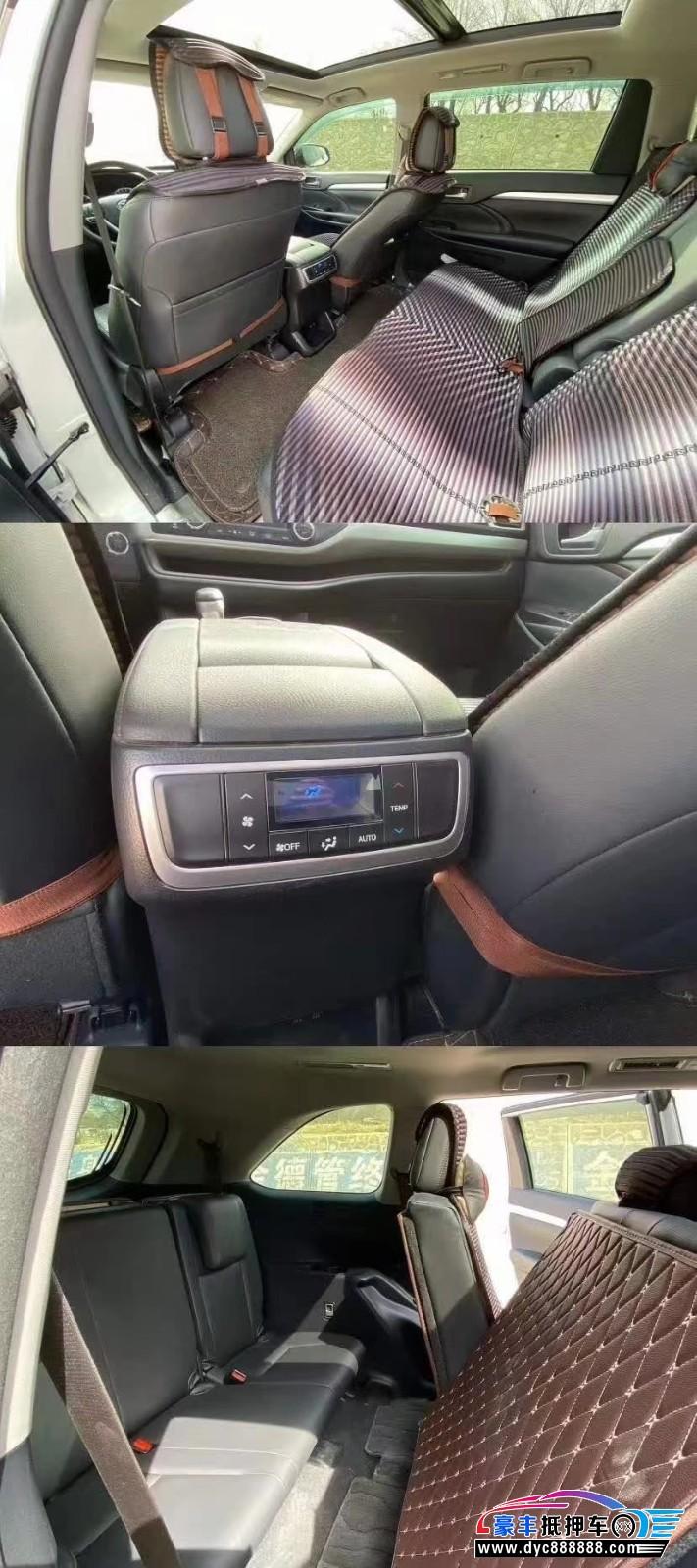 19年丰田汉兰达SUV抵押车出售