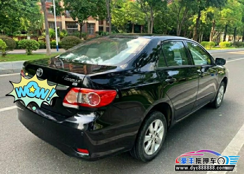 12年丰田卡罗拉轿车抵押车出售