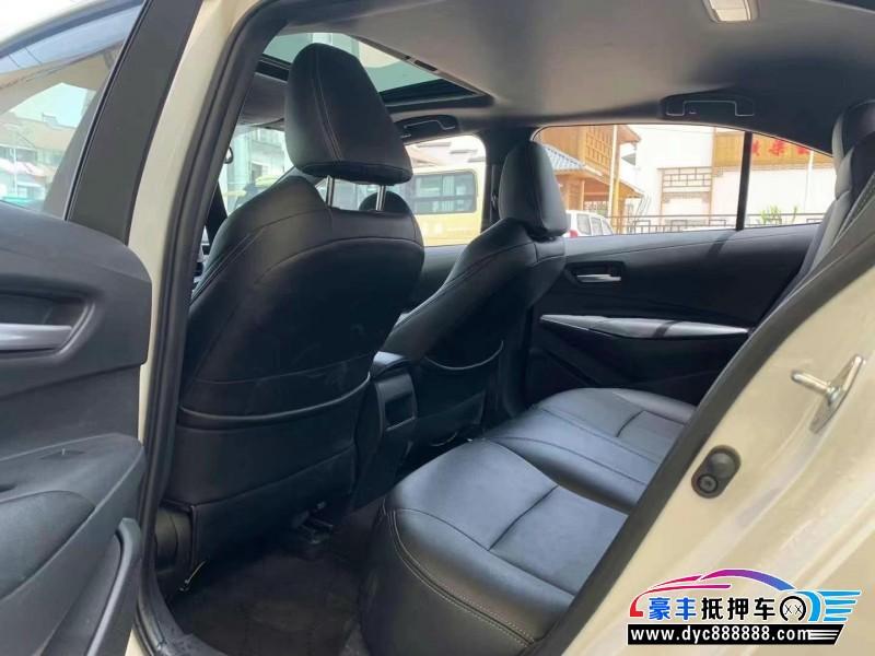 20年丰田雷凌轿车抵押车出售
