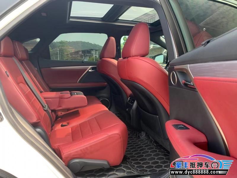 16年雷克萨斯RXSUV抵押车出售