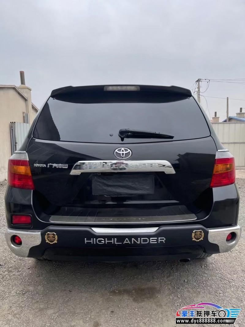 抵押车出售10年丰田汉兰达SUV