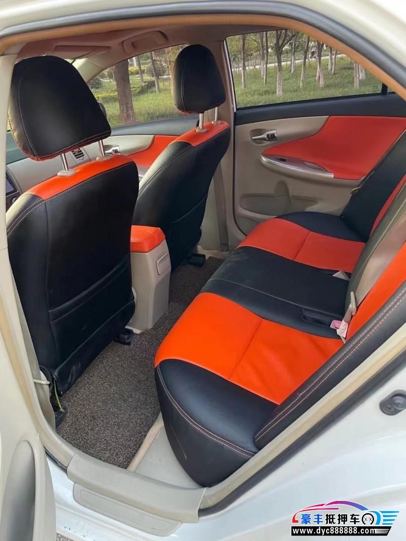 13年丰田卡罗拉轿车抵押车出售