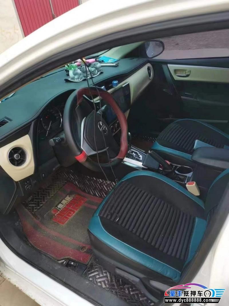 18年丰田卡罗拉轿车抵押车出售