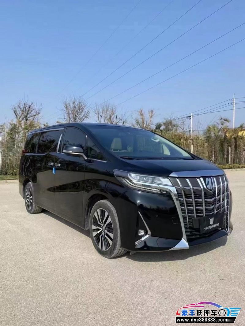19年丰田埃尔法MPV抵押车出售